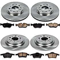 27OEREP44 SureStop OE Replacement Front And Rear Brake Disc and Pad Kit, 4-Wheel Set