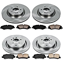27OEREP62 SureStop OE Replacement Front And Rear Brake Disc and Pad Kit, 4-Wheel Set