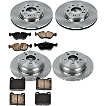 28OEREP27 SureStop OE Replacement Front And Rear Brake Disc and Pad Kit, 4-Wheel Set