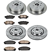 28OEREP58 SureStop OE Replacement Front And Rear Brake Disc and Pad Kit, 4-Wheel Set