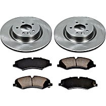 28OEREP62 SureStop OE Replacement Front Brake Disc and Pad Kit, 2-Wheel Set