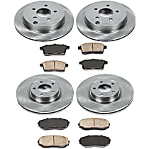 SureStop Front And Rear Replacement Brake Disc and Pad Kit - 4-Wheel Set, Incl. 12.6 in. Front/11.89 in. Rear