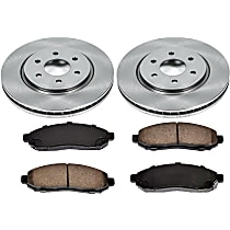 2OEREP14 SureStop OE Replacement Front Brake Disc and Pad Kit, 2-Wheel Set