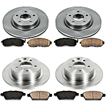 2OEREP24 SureStop OE Replacement Front And Rear Brake Disc and Pad Kit, 4-Wheel Set