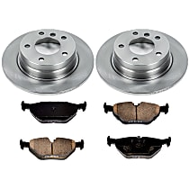 2OEREP50 SureStop OE Replacement Rear Brake Disc and Pad Kit, 2-Wheel Set