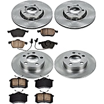 2OEREP53 SureStop OE Replacement Front And Rear Brake Disc and Pad Kit, 4-Wheel Set