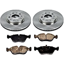 2OEREP57 SureStop OE Replacement Front Brake Disc and Pad Kit, 2-Wheel Set