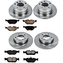 2OEREP59 SureStop OE Replacement Front And Rear Brake Disc and Pad Kit, 4-Wheel Set