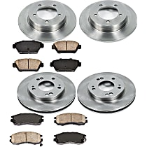 2OEREP68 SureStop OE Replacement Front And Rear Brake Disc and Pad Kit, 4-Wheel Set