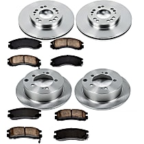 2OEREP80 SureStop OE Replacement Front And Rear Brake Disc and Pad Kit, 4-Wheel Set
