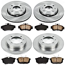 2OEREP91 SureStop OE Replacement Front And Rear Brake Disc and Pad Kit, 4-Wheel Set
