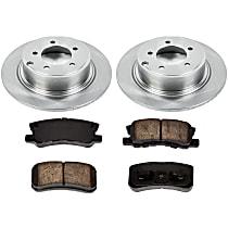 Rear Brake Disc and Pad Kit, 2-Wheel Set