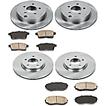 SureStop Front And Rear Replacement Brake Disc and Pad Kit - 4-Wheel Set, Models With 296mm (11.65 in.) Front Rotors