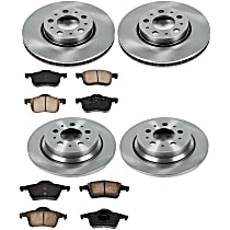 30OEREP44 SureStop OE Replacement Front And Rear Brake Disc and Pad Kit, 4-Wheel Set