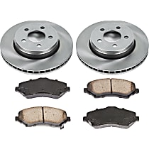 31OEREP16 SureStop OE Replacement Front Brake Disc and Pad Kit, 2-Wheel Set
