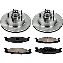 SureStop Front Replacement Brake Disc and Pad Kit - 2-Wheel Set, 2-Wheel ABS Models, Incl. 11.73 in. Replacement Rotors