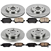31OEREP27 SureStop OE Replacement Front And Rear Brake Disc and Pad Kit, 4-Wheel Set