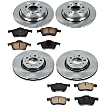 31OEREP44 SureStop OE Replacement Front And Rear Brake Disc and Pad Kit, 4-Wheel Set