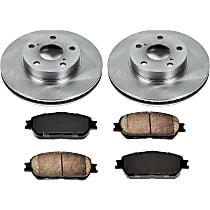 SureStop Front Replacement Brake Disc and Pad Kit - 2-Wheel Set