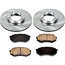 SureStop Front Replacement Brake Disc and Pad Kit - 2-Wheel Set, RWD Models, Incl. 9.96 in. (5 Lugs)
