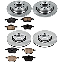 32OEREP44 SureStop OE Replacement Front And Rear Brake Disc and Pad Kit, 4-Wheel Set