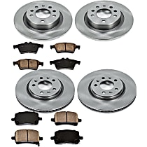 34OEREP14 SureStop OE Replacement Front And Rear Brake Disc and Pad Kit, 4-Wheel Set