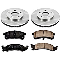 34OEREP15 SureStop OE Replacement Front Brake Disc and Pad Kit, 2-Wheel Set