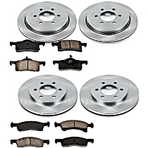 34OEREP19 SureStop OE Replacement Front And Rear Brake Disc and Pad Kit, 4-Wheel Set