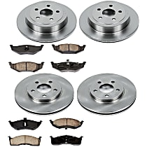 34OEREP27 SureStop OE Replacement Front And Rear Brake Disc and Pad Kit, 4-Wheel Set