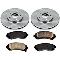 34OEREP52 SureStop OE Replacement Front Brake Disc and Pad Kit, 2-Wheel Set