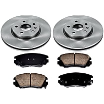 SureStop Front Replacement Brake Disc and Pad Kit - 2-Wheel Set, Models with 321mm Front Disc, With Single Piston Front Calipers