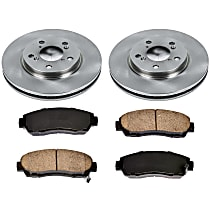 35OEREP24 SureStop OE Replacement Front Brake Disc and Pad Kit, 2-Wheel Set
