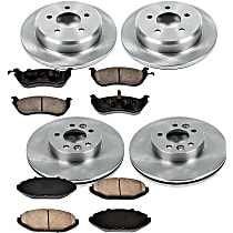 36OEREP13 SureStop OE Replacement Front And Rear Brake Disc and Pad Kit, 4-Wheel Set