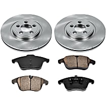 36OEREP56 SureStop OE Replacement Front Brake Disc and Pad Kit, 2-Wheel Set