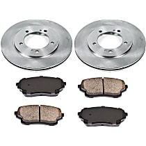 37OEREP54 SureStop OE Replacement Front Brake Disc and Pad Kit, 2-Wheel Set
