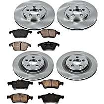 37OEREP56 SureStop OE Replacement Front And Rear Brake Disc and Pad Kit, 4-Wheel Set