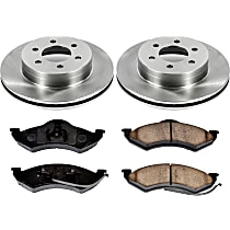 38OEREP21 SureStop OE Replacement Front Brake Disc and Pad Kit, 2-Wheel Set