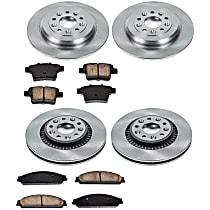 SureStop Front And Rear Replacement Brake Disc and Pad Kit - 4-Wheel Set, Incl. Replacement Rotors