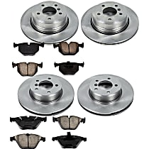 39OEREP54 SureStop OE Replacement Front And Rear Brake Disc and Pad Kit, 4-Wheel Set