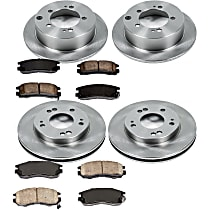 3OEREP68 SureStop OE Replacement Front And Rear Brake Disc and Pad Kit, 4-Wheel Set