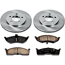 40OEREP21 SureStop OE Replacement Front Brake Disc and Pad Kit, 2-Wheel Set