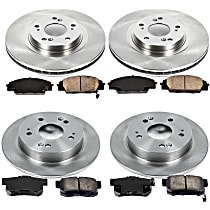 40OEREP24 SureStop OE Replacement Front And Rear Brake Disc and Pad Kit, 4-Wheel Set