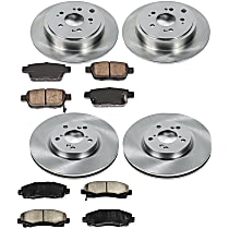 40OEREP59 SureStop OE Replacement Front And Rear Brake Disc and Pad Kit, 4-Wheel Set