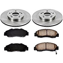 41OEREP10 SureStop OE Replacement Front Brake Disc and Pad Kit, 2-Wheel Set