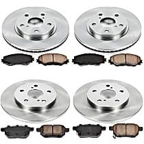 41OEREP41 SureStop OE Replacement Front And Rear Brake Disc and Pad Kit, 4-Wheel Set