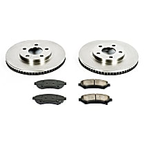 42OEREP15 SureStop OE Replacement Front Brake Disc and Pad Kit, 2-Wheel Set