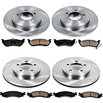 SureStop Front And Rear Replacement Brake Disc and Pad Kit - 4-Wheel Set, Incl. 12.01 in. Front/11.85 in. Rear
