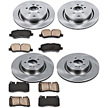 43OEREP54 SureStop OE Replacement Front And Rear Brake Disc and Pad Kit, 4-Wheel Set