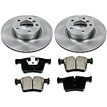 43OEREP67 SureStop OE Replacement Front Brake Disc and Pad Kit, 2-Wheel Set