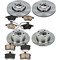 44OEREP28 SureStop OE Replacement Front And Rear Brake Disc and Pad Kit, 4-Wheel Set